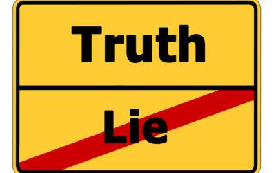 No haga teatro. La mentira cazada